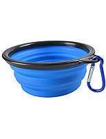 Cat Dog Bowls & Water Bottles Pet Bowls & Feeding Portable Foldable Blushing Pink Blue Green Red Yellow