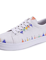 Women's Sneakers Comfort Spring Summer Canvas Casual Black White Flat