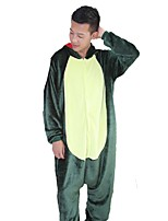 kigurumi Pyjamas Dragon Fête / Célébration Pyjamas Animale Halloween Rose Vert Mode Brodée Flanelle Costumes de Cosplay Kigurumi Pour