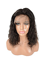 8-26 Inch Deep Wave Brazilian Human Hair Wigs Glueless Lace Front Hair Wigs With Baby Hair For Black Women