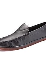Для мужчин Мокасины и Свитер Для прогулок Удобная обувь Обувь для дайвинга Полиуретан Осень Зима Повседневные На плоской подошвеЧерный