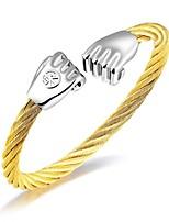 Steel wire bracelet titanium steel elastic steel wire fist open bracelet men's personality spring bracelet