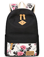 Women Bags All Seasons Canvas Backpack with for Casual Black
