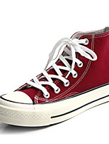 Women's Sneakers Comfort Spring Fall Canvas Casual Burgundy Army Green White Flat
