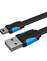 USB 2.0 Cabo, USB 2.0 to Mini USB Cabo Macho-Macho 0.25m (0.8Ft)