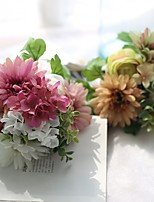 11inch Large Size 8 Heads Silk Polyester Lotus Tabletop Flower Artificial Flowers
