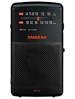 SR-35 DSP Radio portatil Radio FM Altavoz incorporado Negro