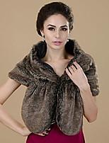 Women's Faux Fur Acrylic Triangle Solid Fall Winter