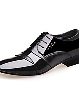Men's Shoes Patent Leather Spring Summer Fall Winter Comfort Formal Shoes Oxfords Lace-up Split Joint For Wedding Party & Evening Office