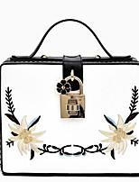 Unisex Shoulder Bag PU All Seasons Casual Square Cut Clasp Lock Yellow Black White Blue