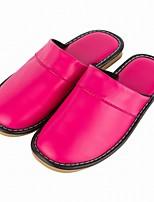 Women's Slippers & Flip-Flops Comfort Summer Fall Synthetic Casual Split Joint Flat Heel Orange Purple Ruby Blushing Pink Burgundy Flat
