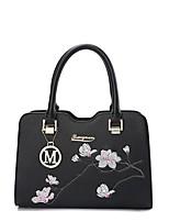 IMBETTUY Women's Fashion PU Leather Embroidered Shoulder Messenger Crossbody Bag/Handbag Tote