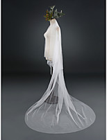 Wedding Veil Two-tier Cathedral Veils Cut Edge Lace Tulle