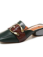 Women's Sandals Basic Pump Summer Real Leather PU Casual Beige Green 1in-1 3/4in