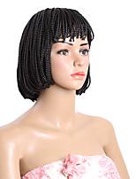 Короткий парик боб синтетический жаростойкий черный коричневый ящик оплетки парик для черных женщин 10inch