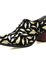 Для мужчин Туфли на шнуровке Формальная обувь Лакированная кожа Весна Лето Осень Зима Повседневные Для вечеринки / ужинаЗолотой Черный