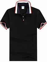 Для мужчин На каждый день Офис Большие размеры Лето Polo Рубашечный воротник,Простое Активный Контрастных цветов С короткими рукавами,