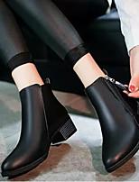 Для женщин Ботинки Удобная обувь Модная обувь Натуральная кожа Полиуретан Лето Повседневные Черный Красный На плоской подошве