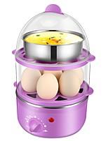 Egg Cooker Double Eggboilers Indicateur d'alimentation Détachable Multifonction Créatif Conception verticale Bruit faible 220V