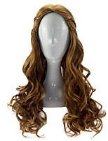 Brown Cosplay Wigs  Anime Cersei Lannister in GOT Long Curly Synthetic Hair Wig