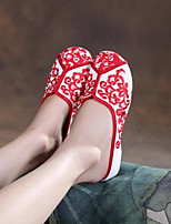 Women's Slippers & Flip-Flops Comfort Fabric Spring Casual Comfort Ruby White Flat