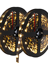 HKV® 10(2x5M) 72W 300 LED 5050 SMD Cool White Warm White Blue LED Strip Black NO-Waterproof Led Flexible Light Flexible Strip DC 12V 1PCS