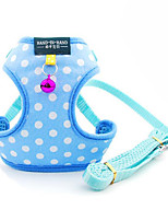 Harness With Bell Polka Dot Polyester Cotton