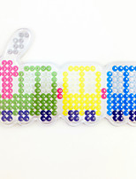 1PCS 5MM Fuse Beads Clear Template Pegboard Stencil Colorful Train Shape Hama Perler Beads Pegboard Kid DIY Handmaking Educational Craft Jigsaw Toy