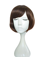 12 inch Short Wig Synthetic Fiber Wig Kinky Straight Hairstyle Wig For Women High Temperate Fiber Hair