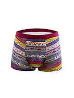 Men's Striped Boxers Underwear,Cotton