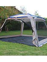 3-4 personnes Tente Unique Tente de camping Tente pliable Etanche Pare-vent Ecran Solaire Protection Solaire Anti-déchirure 1500-2000 mm