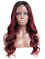 Ombre body wave lace frente cabelo humano perucas com cabelo bebê 130% densidade bravo virgem cabelo laço peruca para mulher