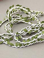 314 inch Brown Natural Twine String with Leaf DIY Craft Garland accessories Supplies Burlap Wedding Decoration Rustic Wedding DecorWhite