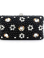 L.west Women's Elegant High-grade Handmade Beaded Diamonds Evening Bag