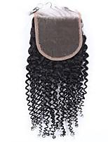4x4kinky cierre rizado rizado cierre remy cabello humano pelo cierre 8-20inch