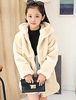 Girls' Solid Jacket & Coat,Rayon Spring Fall Long Sleeve