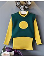Ensembles Fille Couleur Pleine Coton Polyester Printemps Automne Manches longues Ensemble de Vêtements