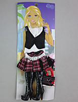 por Muñeca Barbie  Faldas Tops Botas por Chica de muñeca de juguete