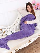 Tricotado Sólido Bambu / Algodão cobertores