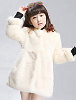 Girls' Solid Down & Cotton Padded,Rayon Winter Long Sleeve