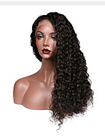 Deep Wave Full Lace Human Hair Wigs Natural Color 1B Brazilian Remy Hair Lace Wigs For Black Women With Baby Hair