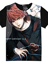 Inspired by Naruto Cosplay Anime Cosplay Costumes Cosplay T-shirt Cartoon Short Sleeves Top For Unisex