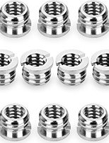 (10 paquetes) cámara 1 / 4-20 a 3 / 8-16 reductor casquillo convertir adaptador de tornillo para tripodmonopod stand de cabeza de bola y