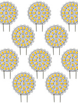 3W Luces LED de Doble Pin T 27 SMD 2835 200 lm Blanco Cálido Blanco Fresco Regulable Decorativa AC110 V 10 piezas G8.5