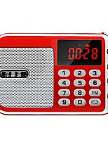 C-853 Radio portatil Reproductor MP3 Tarjeta TFWorld ReceiverRojo