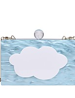 Women Bags All Seasons PC Evening Bag with Chain for Wedding Event/Party Casual Formal Outdoor Sky Blue