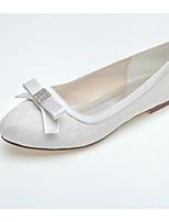 Da donna scarpe da sposa Comoda Primavera Autunno Tulle Matrimonio Serata e festa Con diamantini Piatto Bianco Blu Rosa Piatto