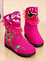 Girls' Boots Snow Boots Cotton Winter Casual Snow Boots Flat Heel Blue Green Ruby Fuchsia Flat