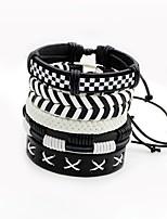 Men's Women's Wrap Bracelet Multi Layer Multi-ways Wear Leather Irregular Twist Circle Jewelry For Stage Street