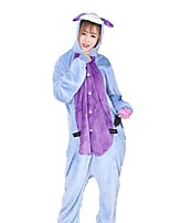 Kigurumi Pajamas Donkey Festival/Holiday Animal Sleepwear Halloween Fashion Embroidered Flannel Fabric Cosplay Costumes Kigurumi For